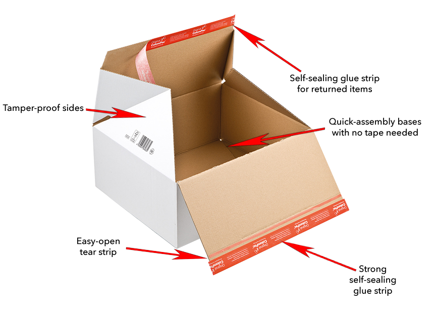Book mailers and cardboard boxes for ecommerce by ColomPac